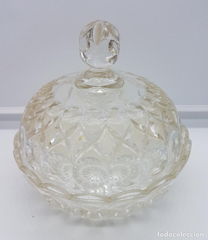 BOMBONERA ANTIGUA HECHA EN CRISTAL (Antigüedades - Cristal y Vidrio - Otros)