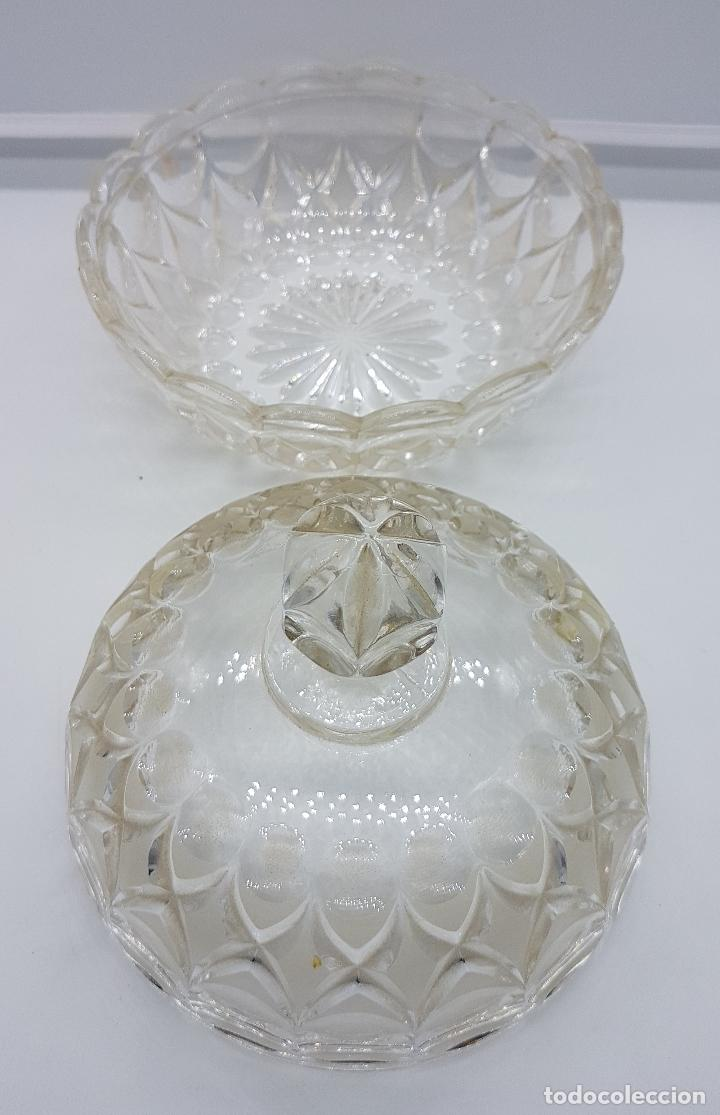 Antigüedades: Bombonera antigua hecha en cristal - Foto 4 - 78848381