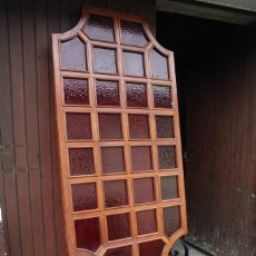 Antigüedades: TABIQUE SEPARADOR EN CRISTAL Y FORJA. Lote 78855761