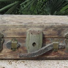 Antigüedades: ANTIGUO BAÚL MADERA. Lote 78880861