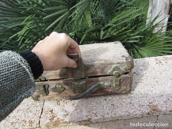 Antigüedades: Antiguo baúl madera - Foto 3 - 78880861