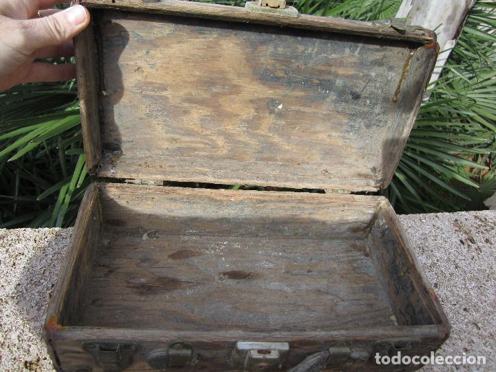 Antigüedades: Antiguo baúl madera - Foto 5 - 78880861