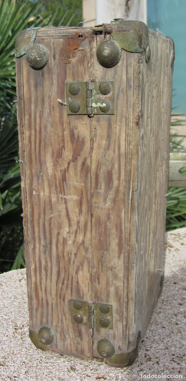 Antigüedades: Antiguo baúl madera - Foto 7 - 78880861
