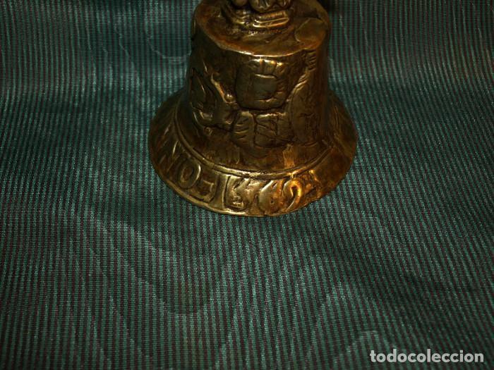 Antigüedades: Campana CAMPANILLA de mano. Bronce. 1569. - Foto 2 - 78892869