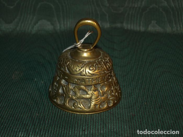 CAMPANA CAMPANILLA DE MANO. BRONCE. SXIX. INGLATERRA (Antigüedades - Hogar y Decoración - Campanas Antiguas)