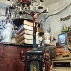 Antigüedades: ESPECTACULAR CALVARIO CON RELICARIO APROXIMADAMENTE FINALES SIGLO XVIII. Lote 78913778
