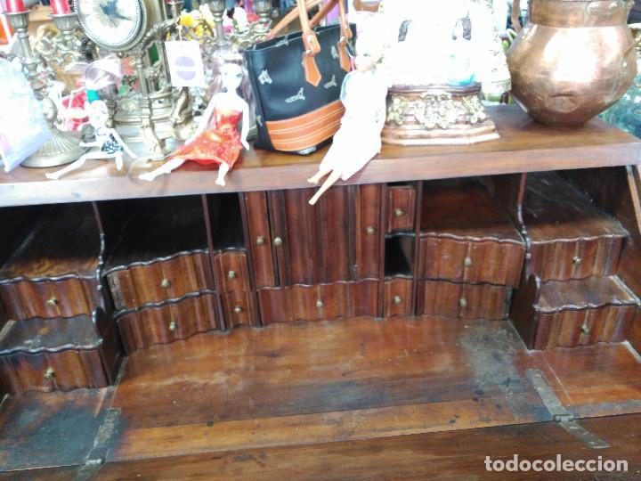 Antigüedades: Bureau antiguo / escritorio de nogal con cajones secretos, S. XIX / aparador / OLD DESK - Foto 3 - 78938085