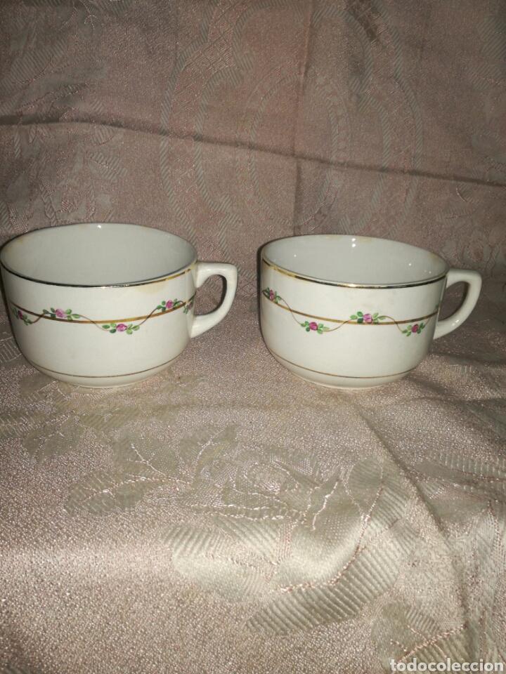 Antigüedades: Pareja de tazas de desayuno San Claudio - Foto 2 - 75155281