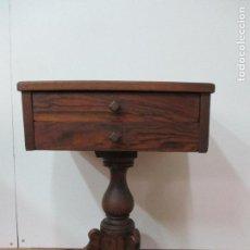 Antigüedades: ANTIGUO COSTURERO - ISABELINO - MADERA NOGAL - S. XIX. Lote 79005005