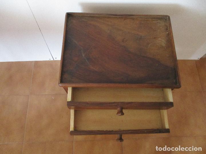 Antigüedades: Antiguo Costurero - Isabelino - Madera Nogal - S. XIX - Foto 6 - 79005005