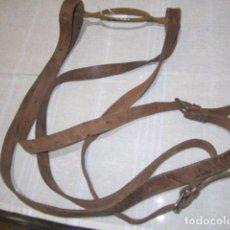 Antiquités: ANTIGUO PORTAMALETAS DE TIRAS DE CUERO.. Lote 79014461