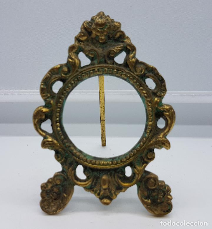 ELEGANTE MARCO ANTIGUO EN BRONCE DE ESTILO ROCOCÓ (Antigüedades - Hogar y Decoración - Marcos Antiguos)