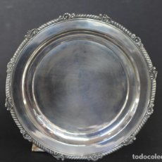 Antigüedades: BANDEJA EN PLATA LEY INGLESA CON CONTRASTE 925/1000. Lote 79037341
