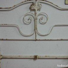 Antigüedades: CABECERO DE HIERRO PARA CAMA DE 0,90. Lote 79069929