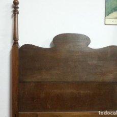 Antigüedades: CABECERO DE MADERA DE CASTAÑO, PARA CAMA DE 0,90. Lote 79070249