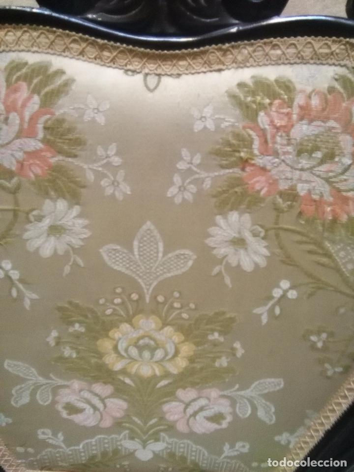 Antigüedades: preciosa silla sillon salon madera tallada para restaura con precioso tapizado brocado . leer mas - Foto 6 - 82491979
