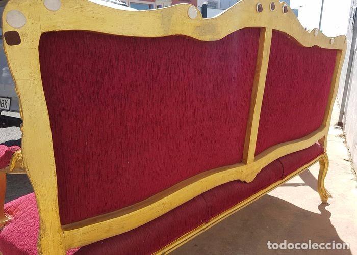 Antigüedades: Una atractiva suite de madera de tres piezas de estilo Luis XV, siglo XX tresillo - Foto 3 - 79097649