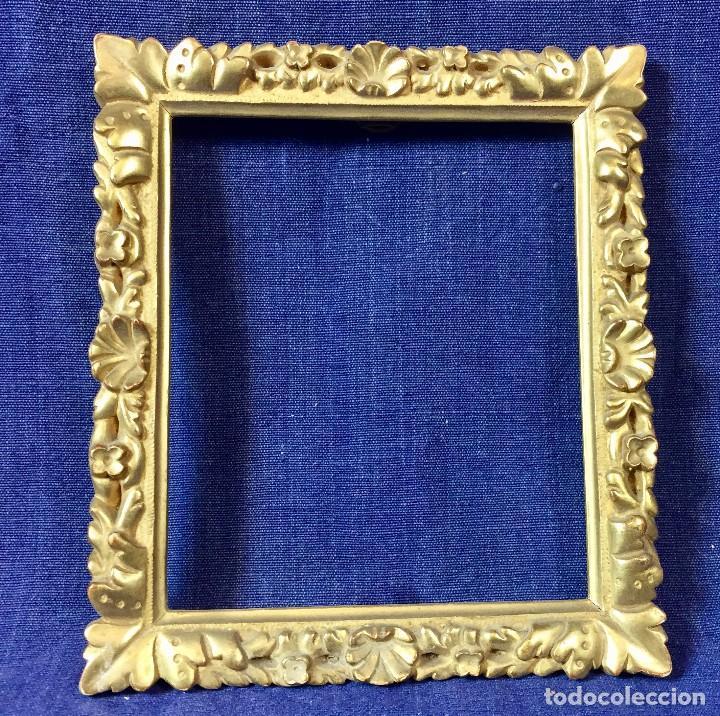marco madera tallada dorada concha flores bruñi - Comprar Marcos ...