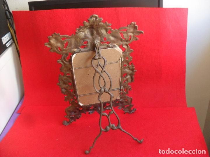 Antigüedades: antiguo marco,portafotos,bronce siglo XIX,gran tamaño - Foto 3 - 79123425