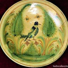 Antigüedades: PLATO DE DECORACIÓN ZOOMÓRFICA. CERÁMICA ESMALTADA. CATALUNYA. ESPAÑA. XIX. Lote 79136341