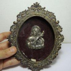 Antigüedades: ANTIGUO RELICARIO. METAL PLATEADO.. Lote 79164773