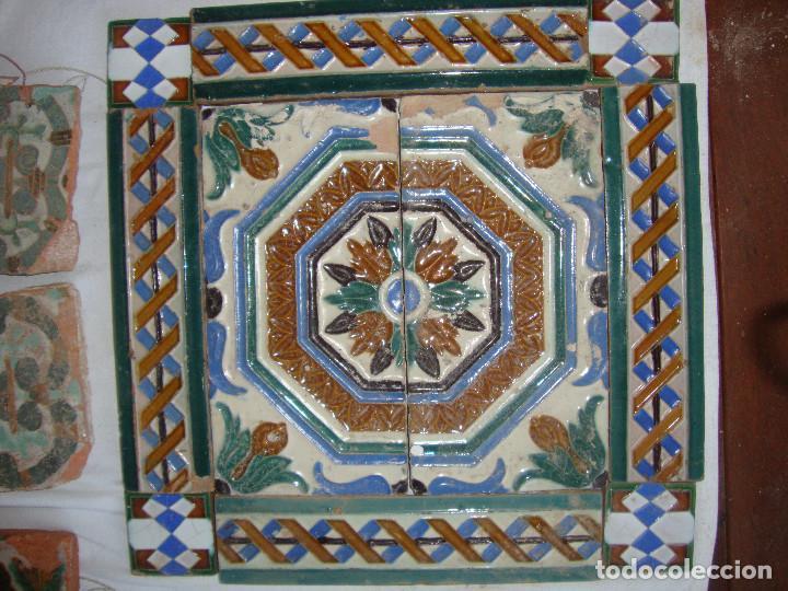 COMPOSICION DE AZULEJOS (Antigüedades - Porcelanas y Cerámicas - Azulejos)