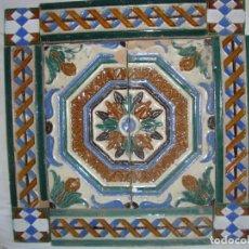 Antigüedades: COMPOSICION DE AZULEJOS. Lote 79176553