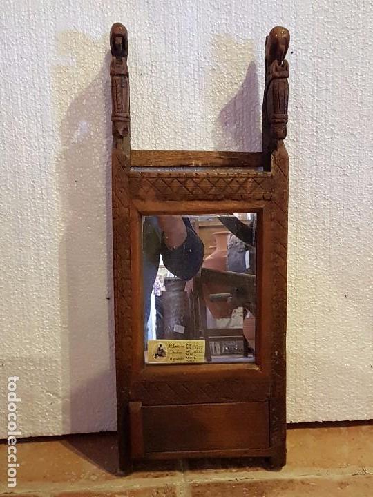 REPISA CON ESPEJO (Antigüedades - Muebles Antiguos - Repisas Antiguas)