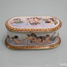 Antiquitäten - Cajita porcelana española Salvador Mallol. Estilo Capodimonte. - 79228401