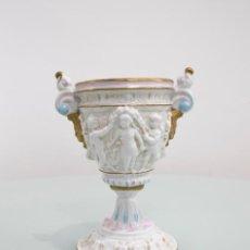 Antigüedades: JARRÓN DE PORCELANA ESPAÑOLA ALGORA.. Lote 79236677