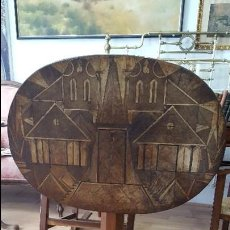 Antigüedades: MESA VELADOR A SIGLO XIX BIEDERMEIER MUY RARO. Lote 79239445