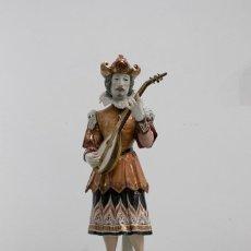 Antigüedades: FIGURA MÚSICO CON MANDOLINA. ALGORA. 1990.. Lote 79247833