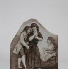 Antigüedades: PLACA BISCUIT DE PORCELANA. LOS CAPRICHOS DE GOYA. ALGORA.. Lote 79249277