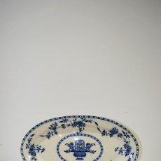 Antigüedades: BANDEJA ANTIGUA DE PORCELANA INGLESA SIGLO XIX. Lote 79332421