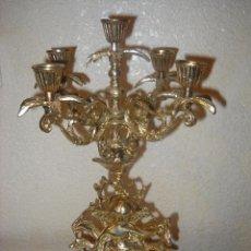 Antiques - Bonito candelabro de bronce macizo - 79353613