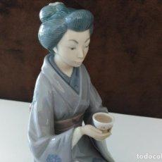 Antigüedades: LLADRO- CEREMONIA DEL TE JAPONESA. DESCATALOGADO EN1994 (NUEVA, NUNCA EXPUESTA). Lote 79363113