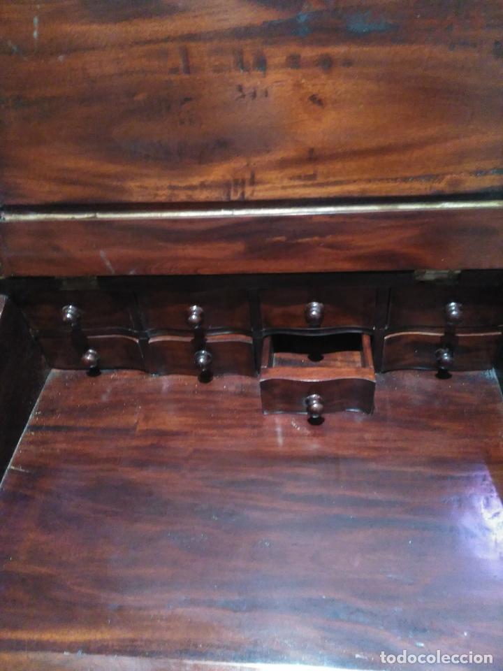 Antigüedades: ANTIGUO Y Precioso escritorio davenport CAOBA 8 cajones laterales 8 CAJONES en pupitre SIGLO XIX - Foto 3 - 66481431