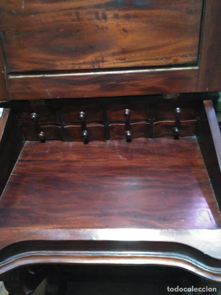 Antigüedades: ANTIGUO Y Precioso escritorio davenport CAOBA 8 cajones laterales 8 CAJONES en pupitre SIGLO XIX - Foto 4 - 66481431