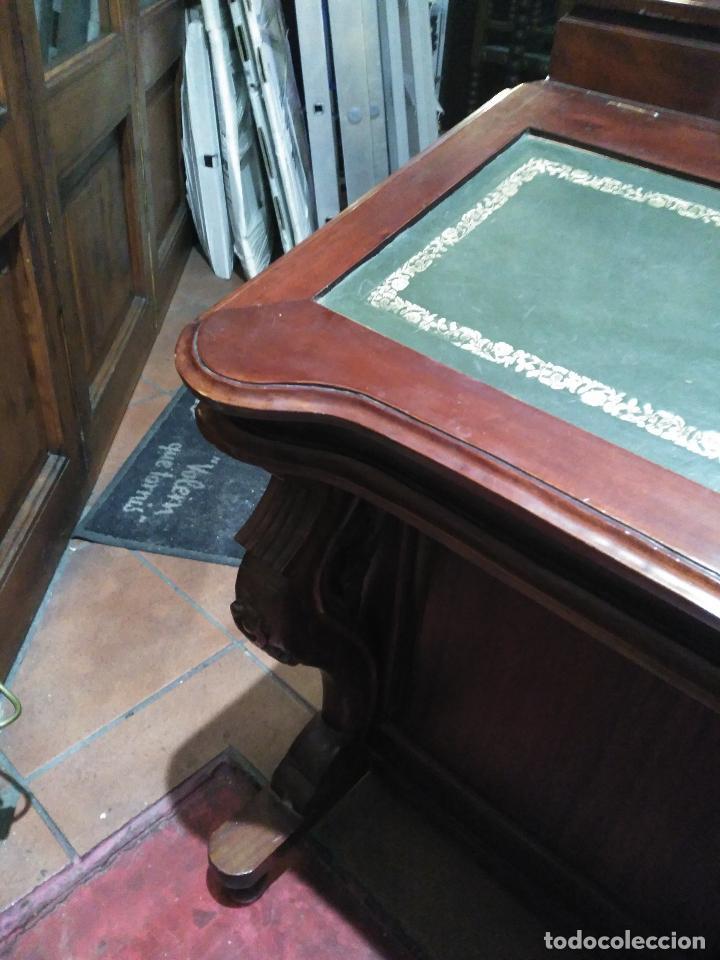 Antigüedades: ANTIGUO Y Precioso escritorio davenport CAOBA 8 cajones laterales 8 CAJONES en pupitre SIGLO XIX - Foto 6 - 66481431