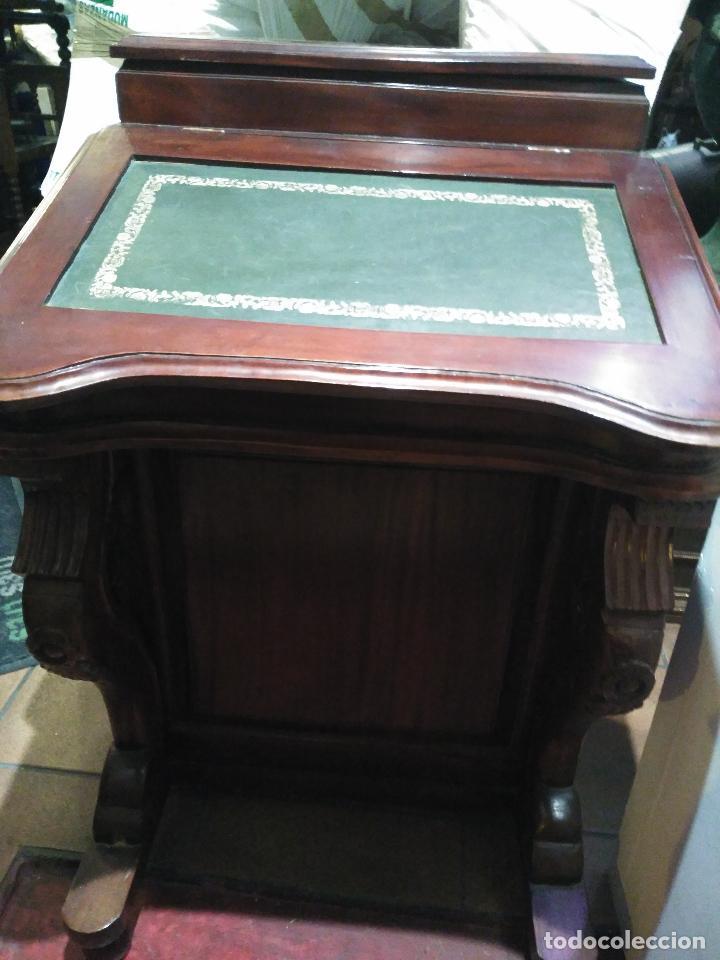 Antigüedades: ANTIGUO Y Precioso escritorio davenport CAOBA 8 cajones laterales 8 CAJONES en pupitre SIGLO XIX - Foto 7 - 66481431