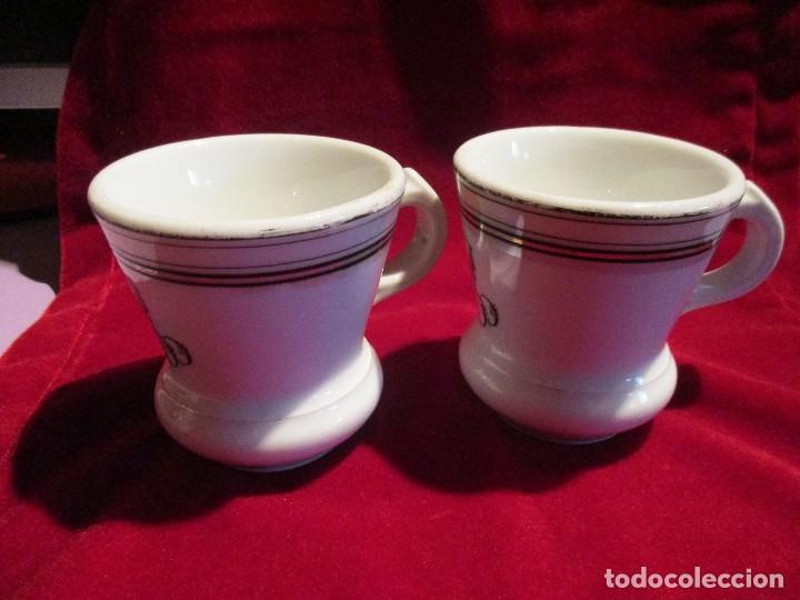 Antigüedades: dos tazas de porcelana. taza - Foto 3 - 79497377