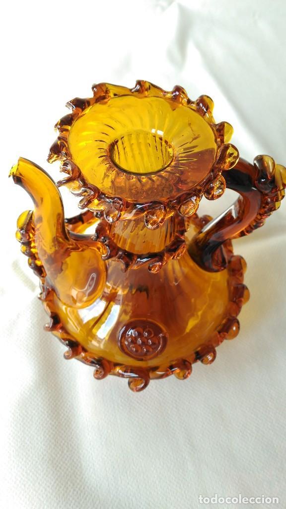 Antigüedades: ACEITERA VINAGRERA CRISTAL MALLORQUIN - Foto 3 - 79510369