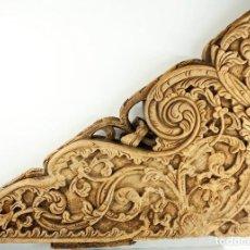 Antigüedades: PAREJA DE MÉNSULAS ANTIGUAS, INDONESIA. Lote 79517657