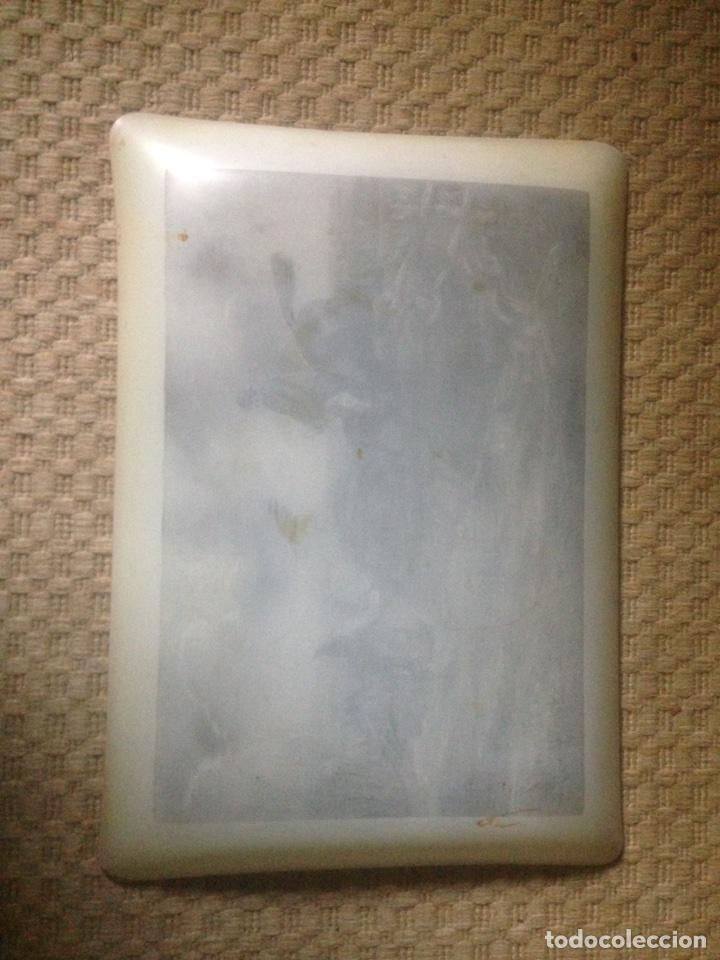 Antigüedades: Bandeja de cristal blanco - Foto 5 - 79540939