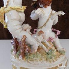 Antigüedades: ALGORA: GRUPO DE ÁNGELES EN AUTENTICA PORCELANA ALGORA. NUEVA, A ESTRENAR!. Lote 79550653
