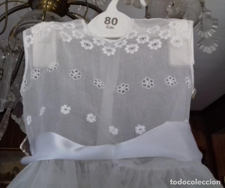 Antigüedades: ANTIGUO VESTIDO DE BEBÉ DE BATISTA BORDADA. - Foto 3 - 79573581