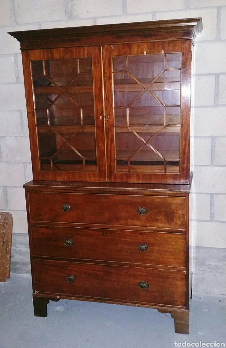 Vitrina Aparador De Caoba Eduardiano Comprar Aparadores Antiguos  # Muebles De Caoba