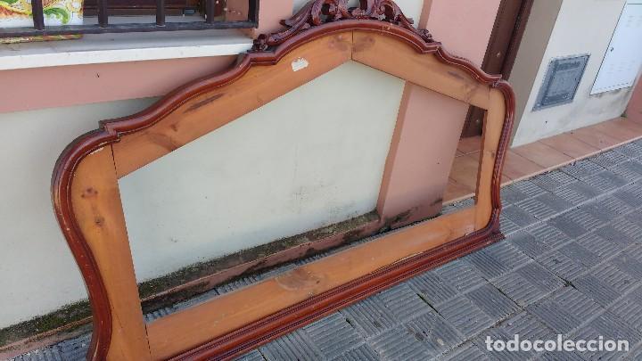 Espejo de comoda grande sin espejo solo marco vendido - Espejos grandes segunda mano ...