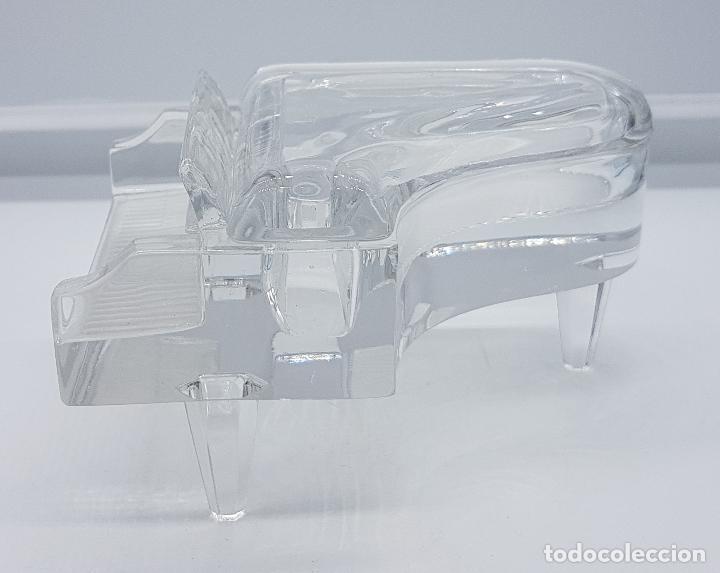 Antigüedades: Elegante Cofre joyero en cristal con forma de piano antiguo ingles - Foto 3 - 79635189