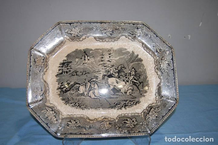 FUENTE PLATO DE LA FABRICA CARTAGENA S.XIX (Antigüedades - Porcelanas y Cerámicas - Cartagena)